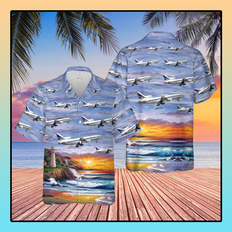 Delta Air Lines Lockheed L 1011 250 Tristar Hawaiian Shirt4