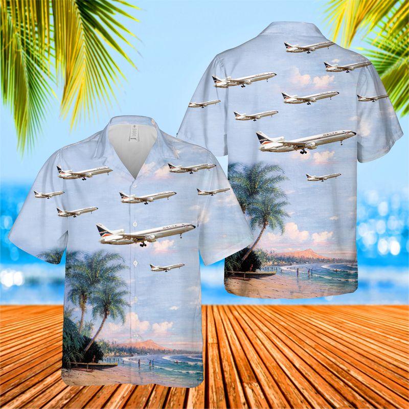 Delta Air Lines Lockheed L 1011 385 1 15 TriStar 250 Hawaiian Shirt