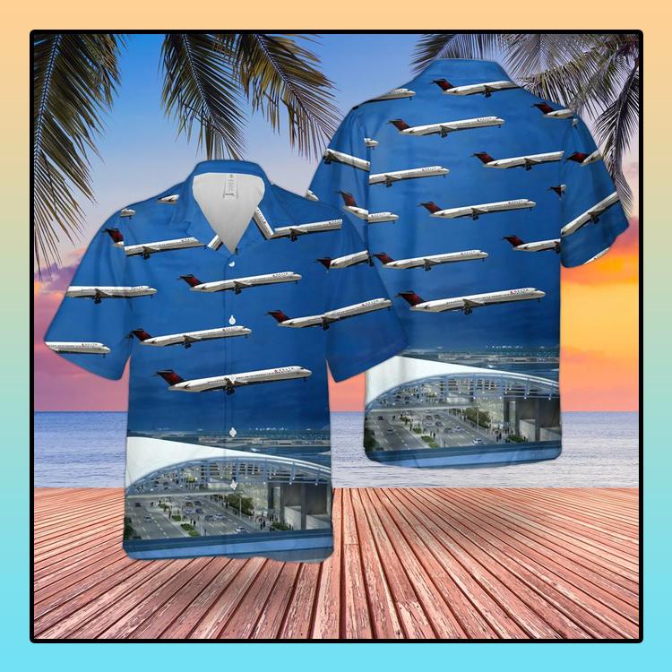 Delta Air Lines McDonnell Douglas MD 88 Hawaiian Shirt4 1
