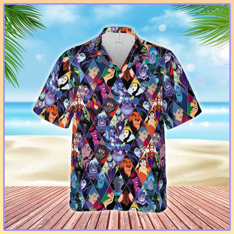Disney Villains characters hawaiian shirt2
