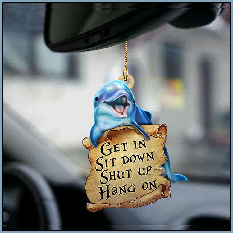 Dolphin get in sit down shut up hang on ornament1