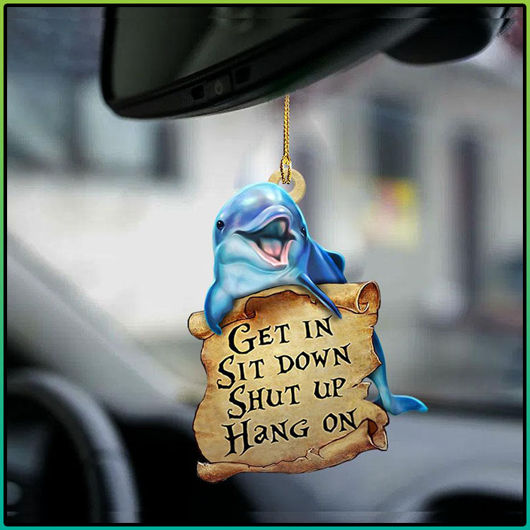 Dolphin get in sit down shut up hang on ornament3