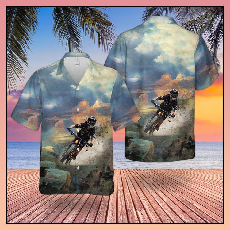 Downhill Mountain Biking Hawaiian Shirt3