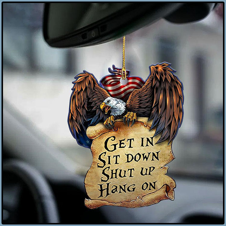 Eagle bird get in sit down shut up hang on ornament3