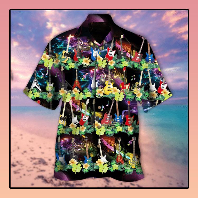 Electric guitar aloha hawaiian shirt3