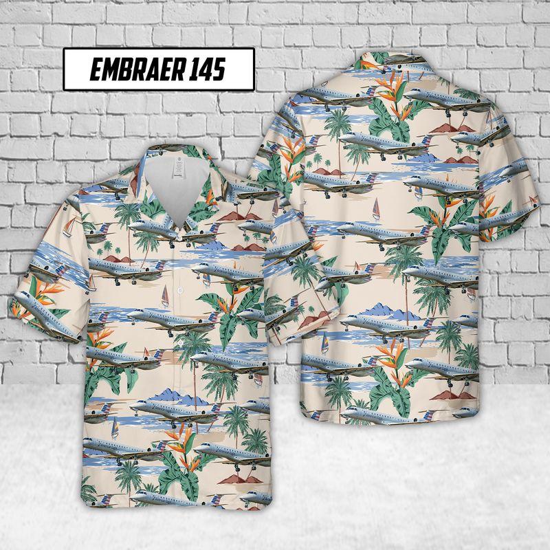 Embraer 145 Envoy Air Hawaiian Shirt