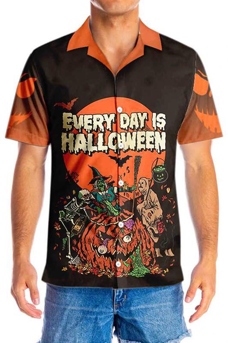 Everyday Is HalloWeen Hawaiian Shirt3