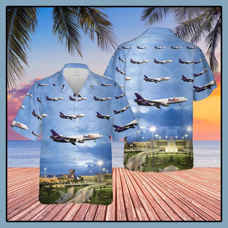 FedEx Express McDonnell Douglas MD 10 Miami International Airport Hawaiian Shirt4