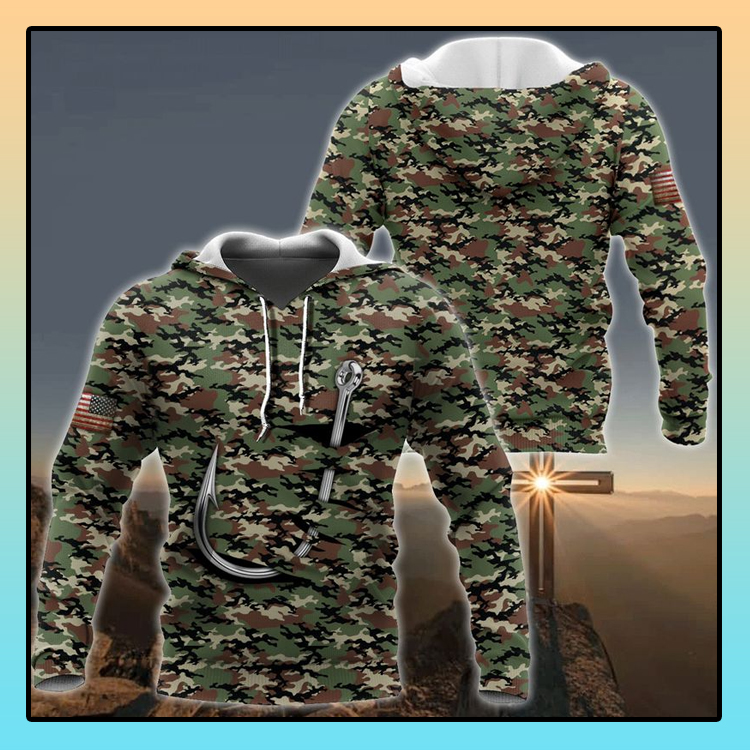 Fishing hook camo 3d all over print hoodie4