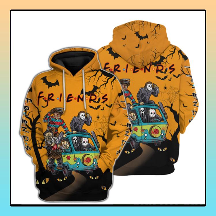 Friends Horror Halloween 3d Hoodie Custom Name 4