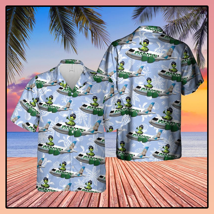 Frontier Airlines Turtle On Airbus Hawaiian Shirt2