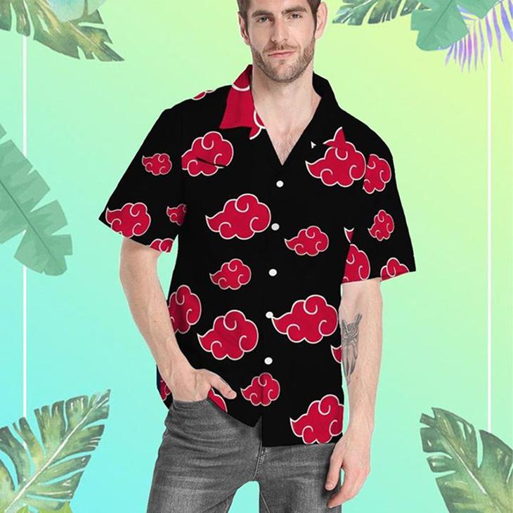 Gearhumans 3D Akatsuki Hawaiian Shirt3
