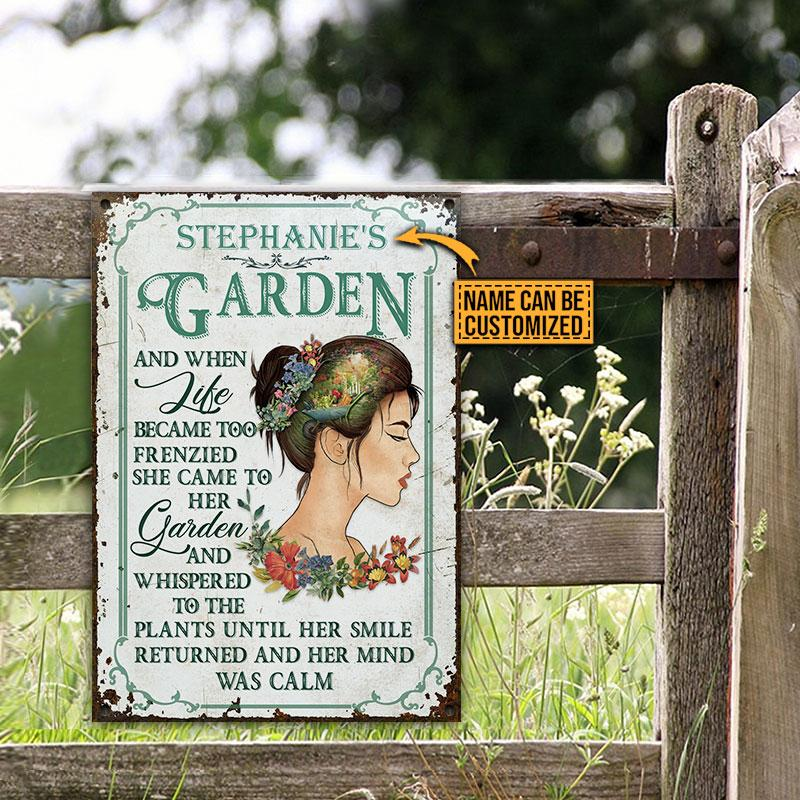 Girl Stephanies Garden And When Like Became Too Frenzied She Came To Her Garden Metal Signs