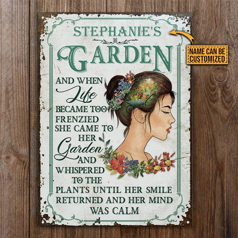 GirlGarden And When Like Became Too Frenzied She Came To Her Garden Metal Signs3 1
