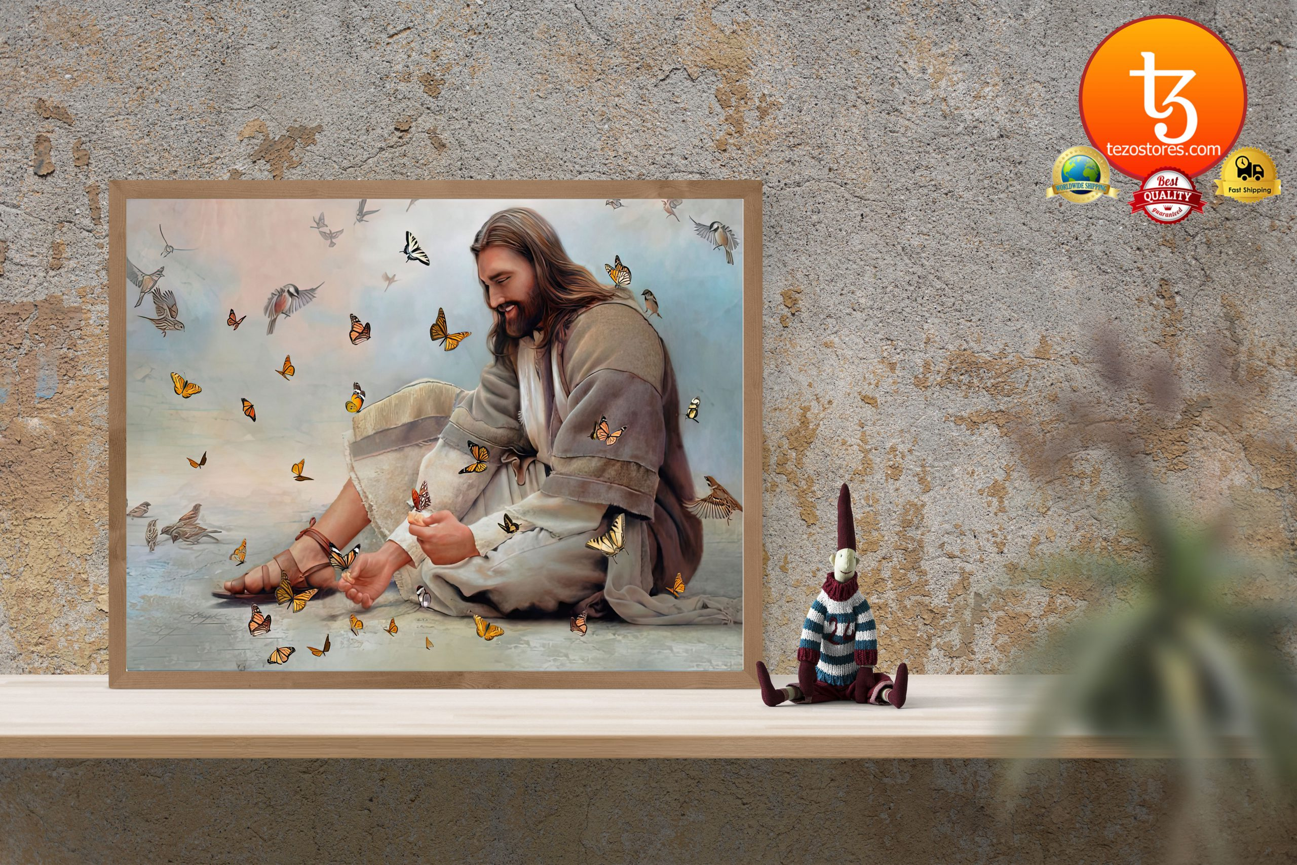 God surrounded by Butterfly angels Poster3