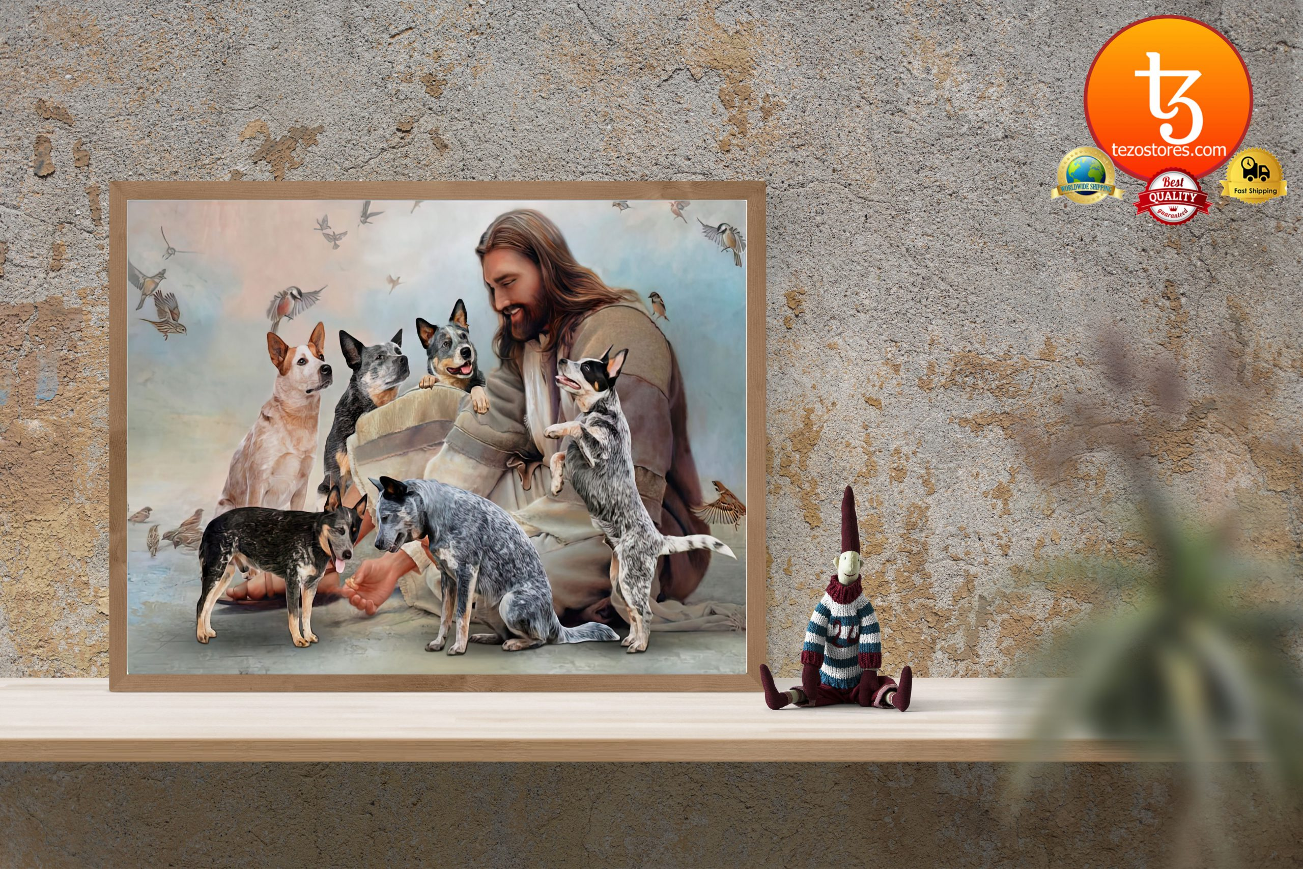 God surrounded by Heeler angels Poster3