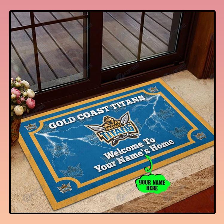Gold Coast Titan welcome to home custom name doormat2