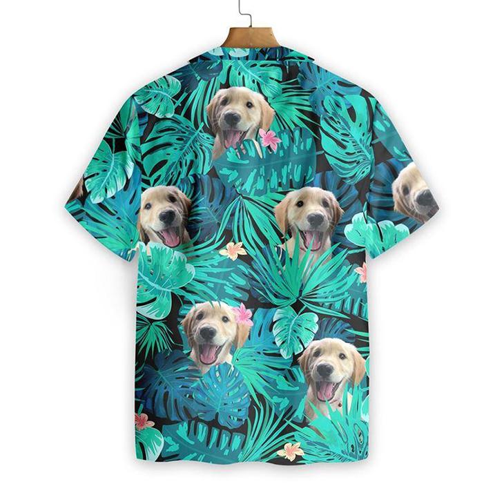 Golden Retriever Custom Photo Hawaiian Shirt1