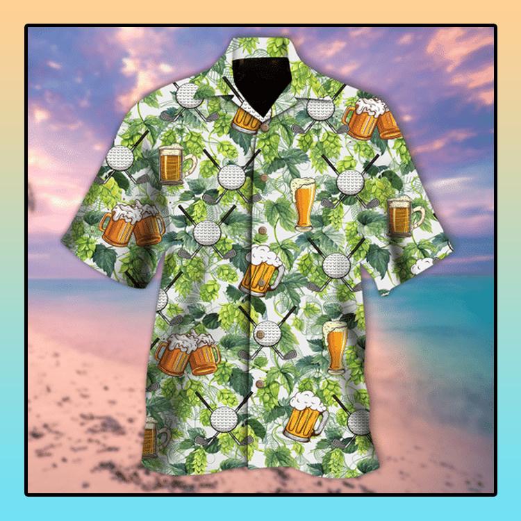 Golf and beer aloha hawaiian shirt4