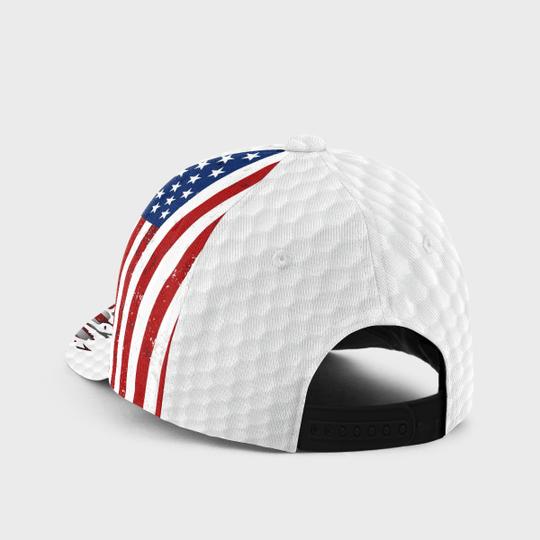 Golfer American flag cap2