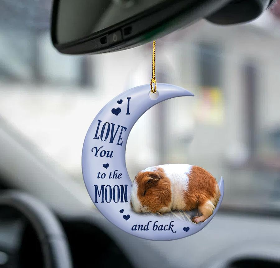 Guinea pig I Love You to the moon and back ornament