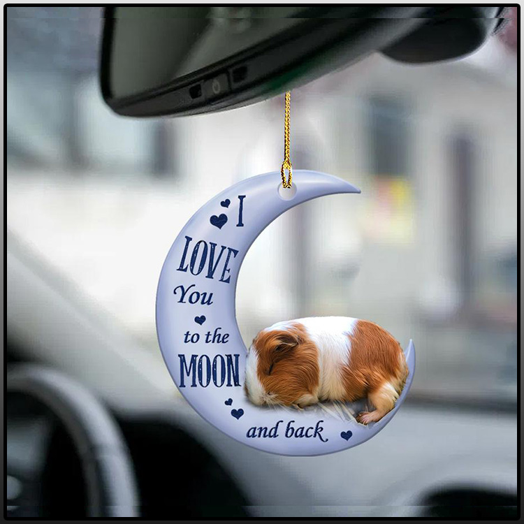 Guinea pig I Love You to the moon and back ornament1