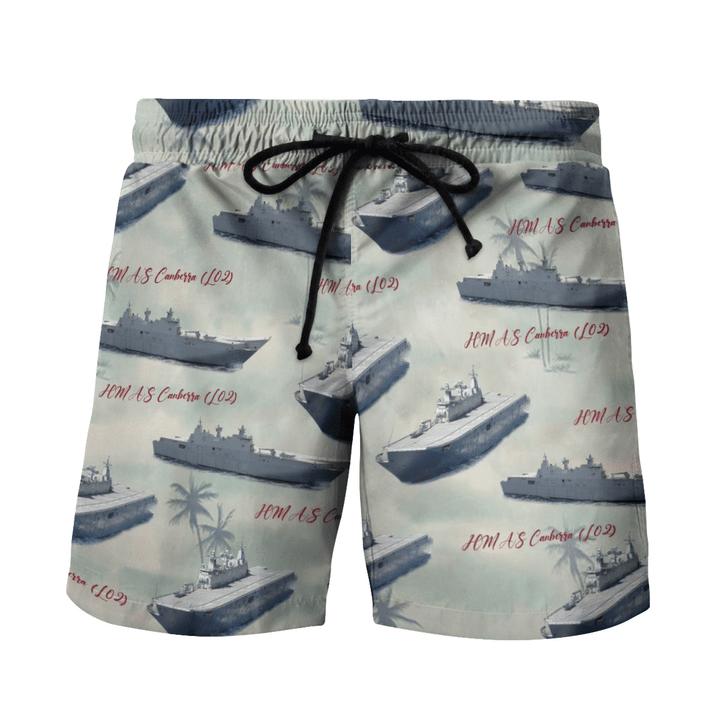 HMAS Canberra L02 Australian Navy Hawaiian Shirt And Short1