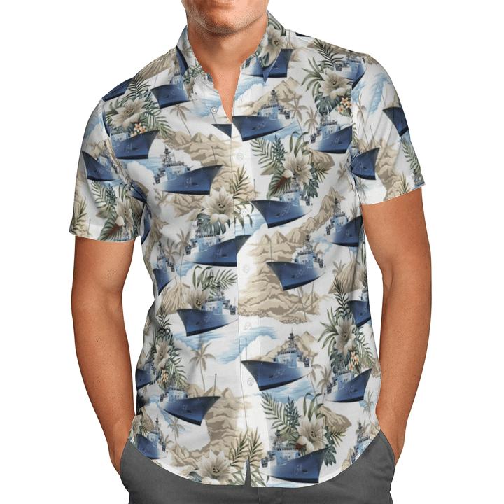 HMAS Parramatta FFH 154 Australian Navy Hawaiian Shirt And Short
