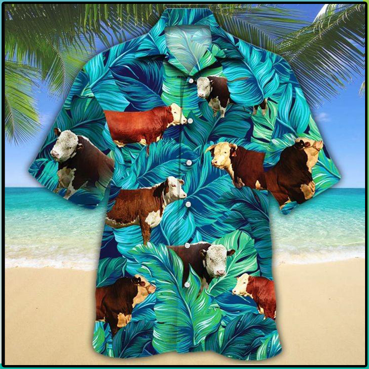 Hereford Cattle Lovers Hawaiian Shirt2