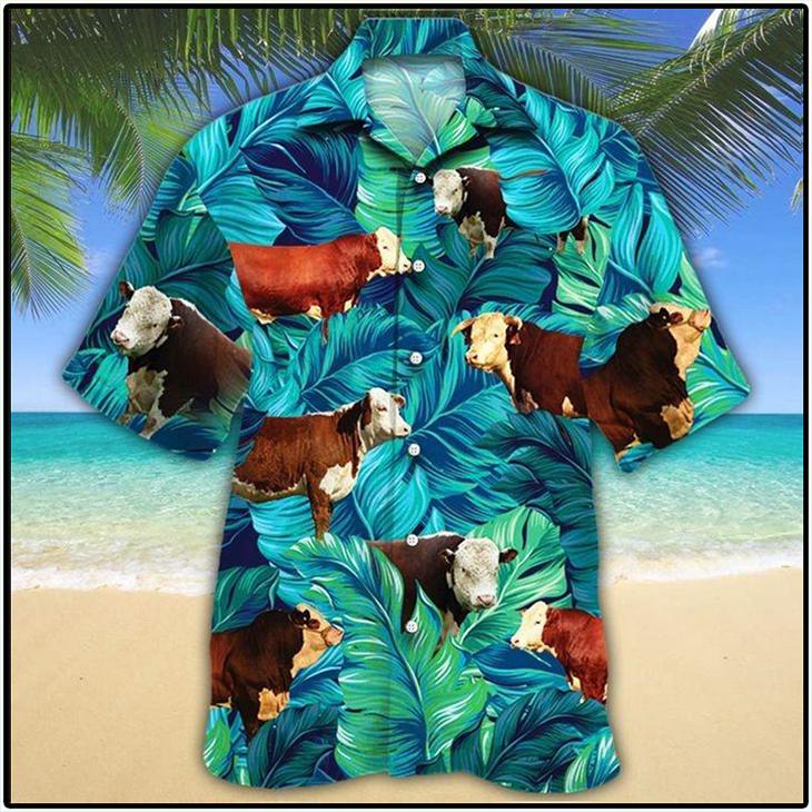 Hereford Cattle Lovers Hawaiian Shirt3