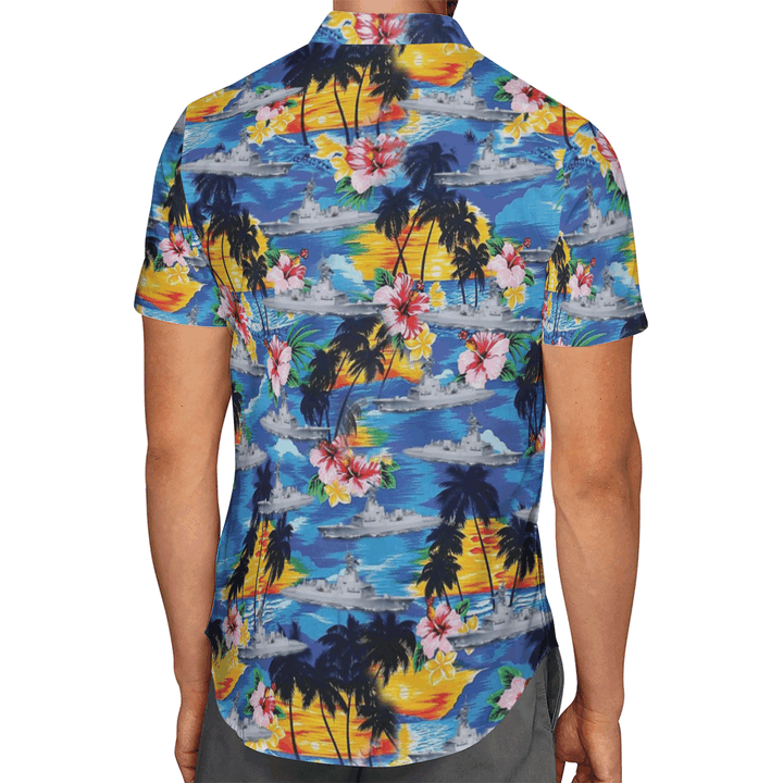 Hmas Sydney DDG 42 Australian Navy Hawaiian Shirt And Short