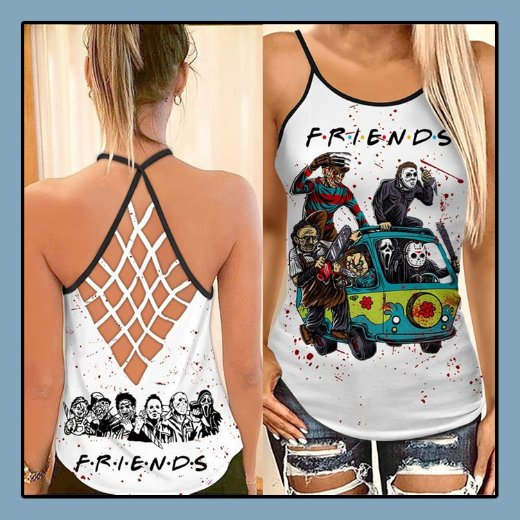 Horror Characters friends TV criss cross strappy tank top3