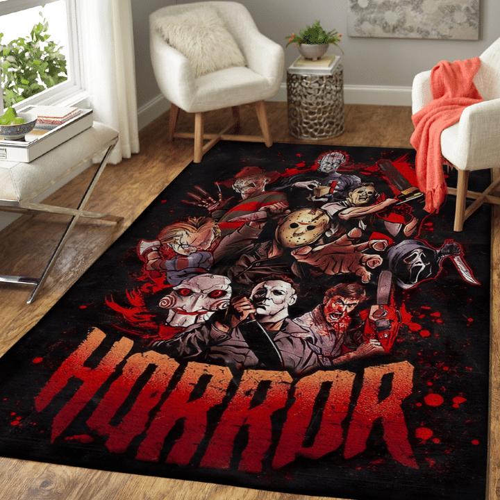 Horror killer characters rug