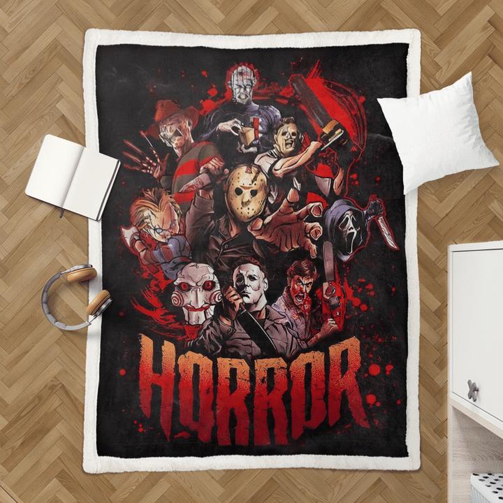 Horror killer characters rug2