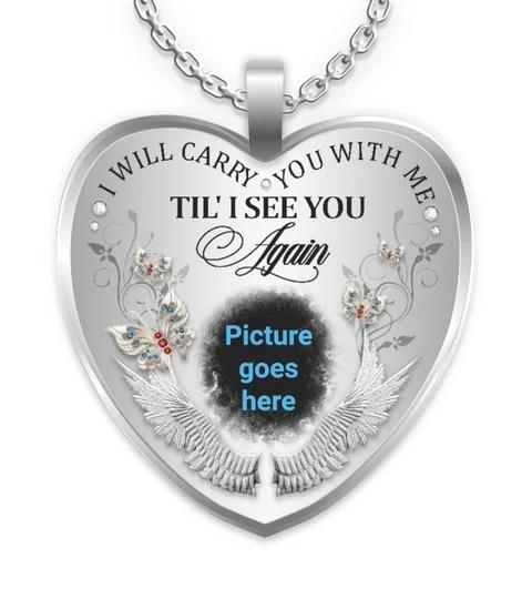 I Will Carry You With Me Tie I See You Again Picture Goes Here HEART NECKLACE
