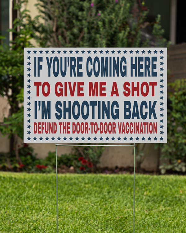If Youre Coming Here To Give Me A Short Im Shooting Back Yard Signs2