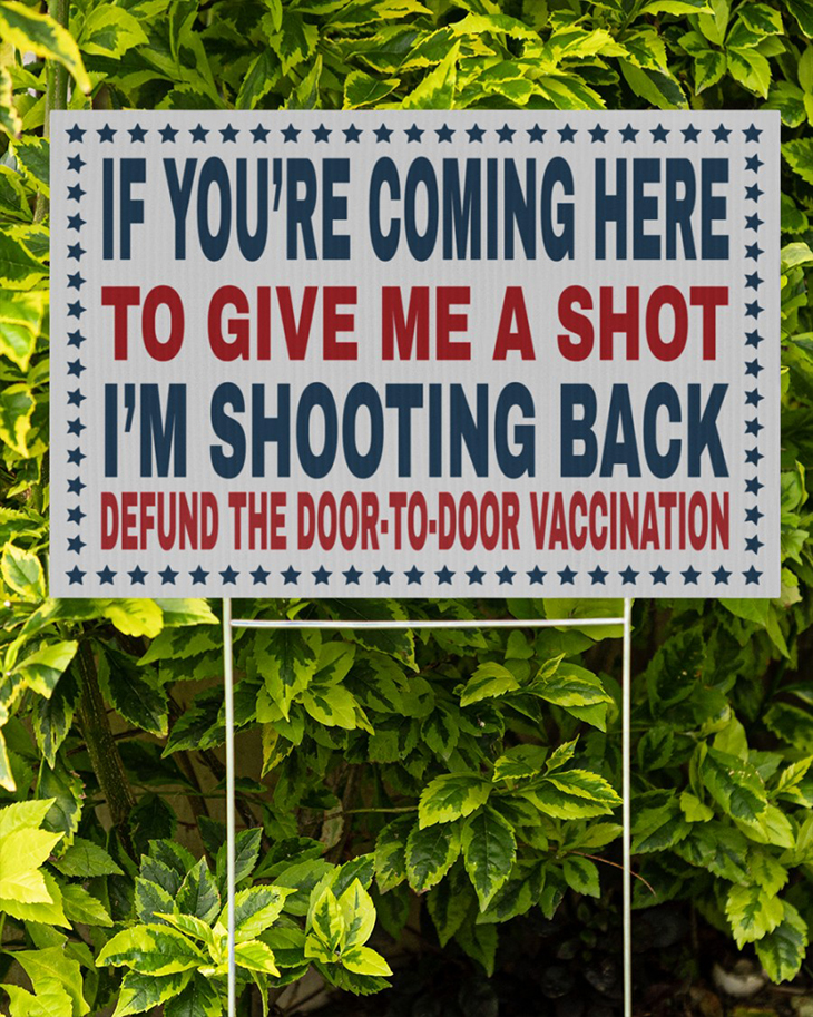 If Youre Coming Here To Give Me A Short Im Shooting Back Yard Signs3