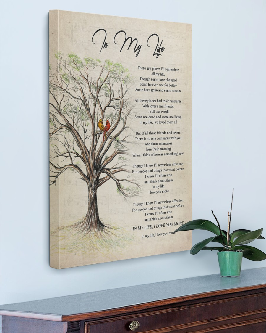 In My Life Poster And Canvas5