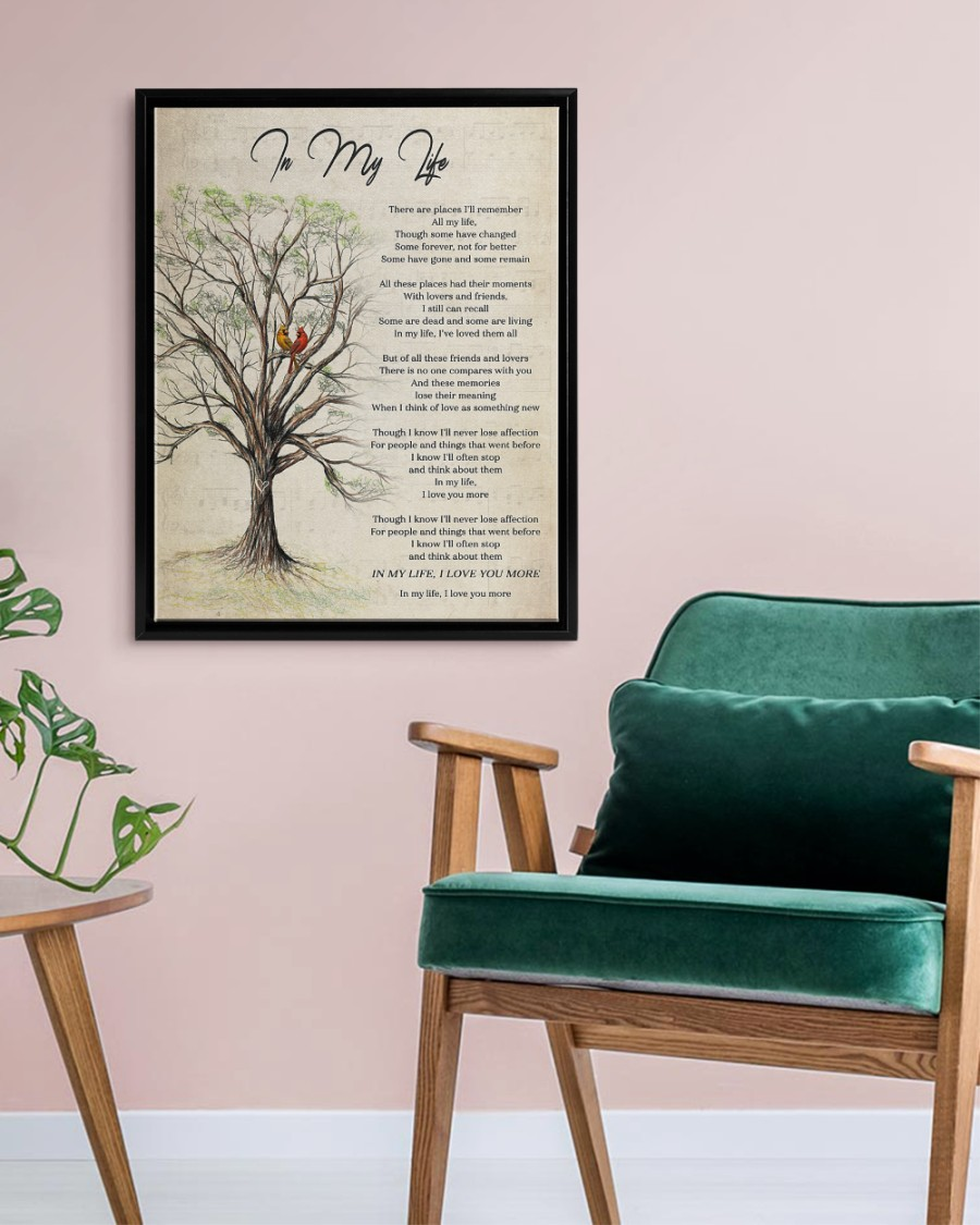 In My Life Poster And Canvas9