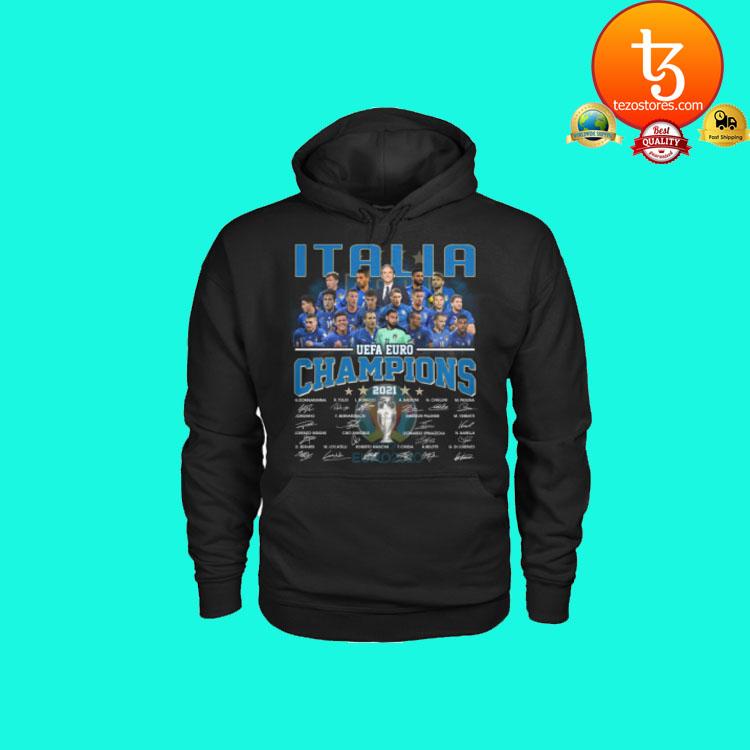 Italia UEFA Euro Champions signatures shirt hoodie2