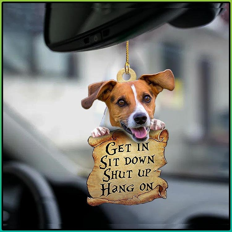 Jack Russell Terrier get in sit down shut up hang on ornament2