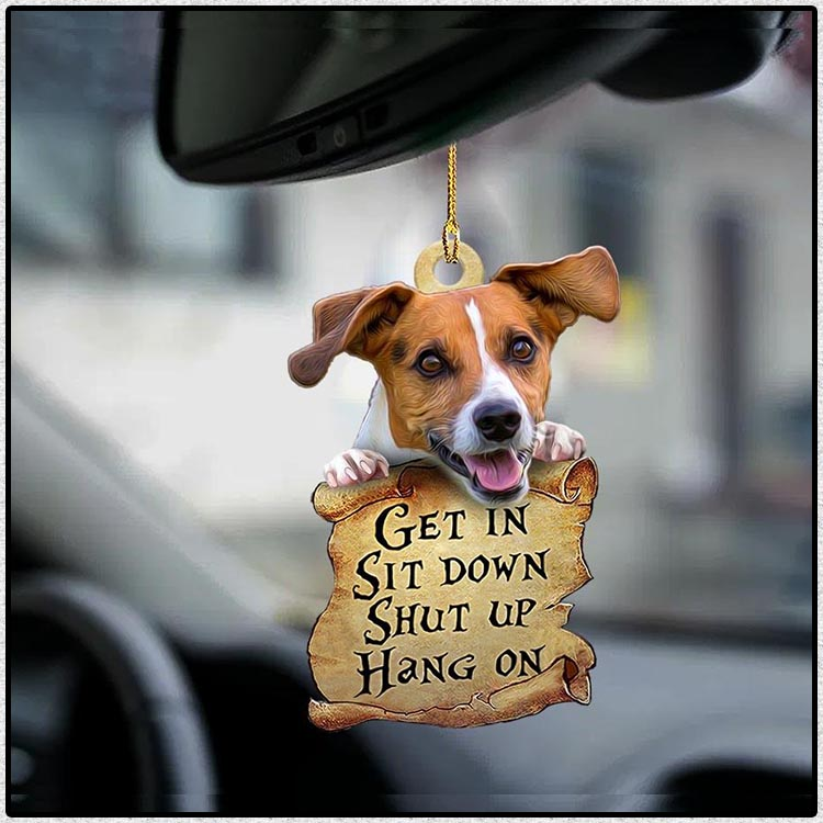 Jack Russell Terrier get in sit down shut up hang on ornament3