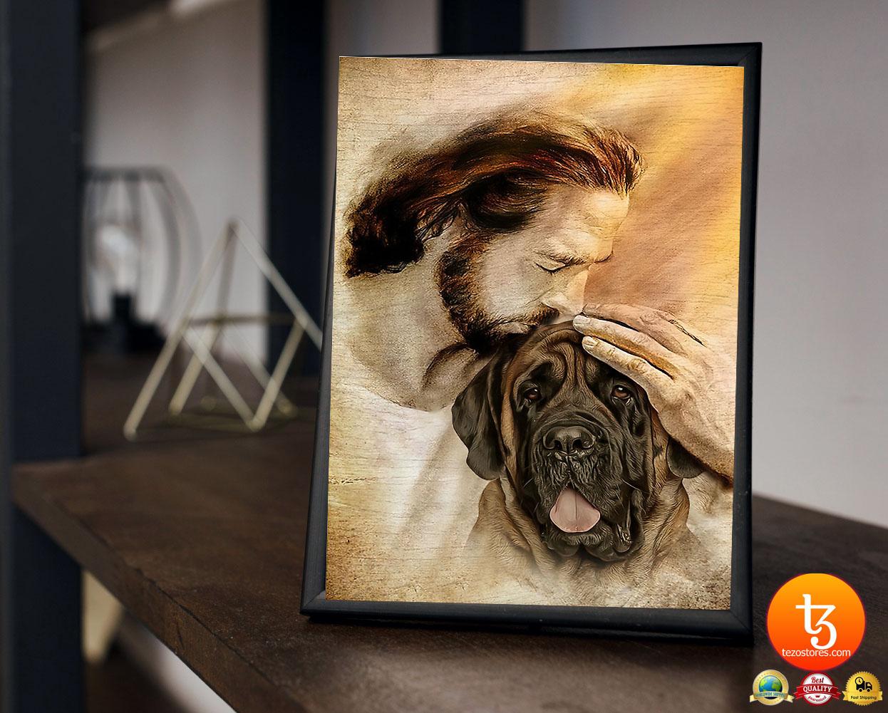 Jesus with English Mastiff poster3