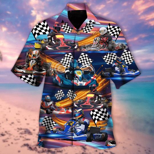 Kart racing hawaiian shirt
