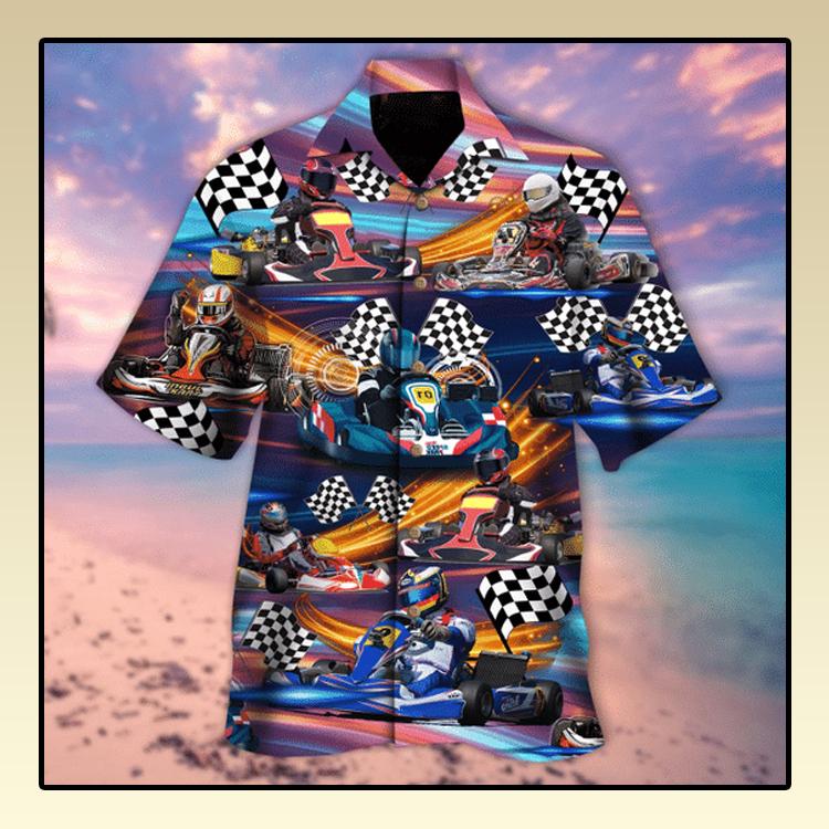 Kart racing hawaiian shirt3