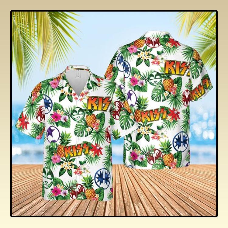 Kiss rock band Hawaiian Shirt and short1