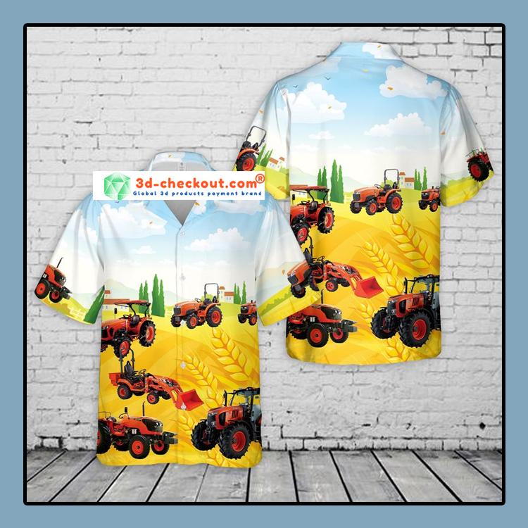 Kubota Tractor Hawaiian Shirt1