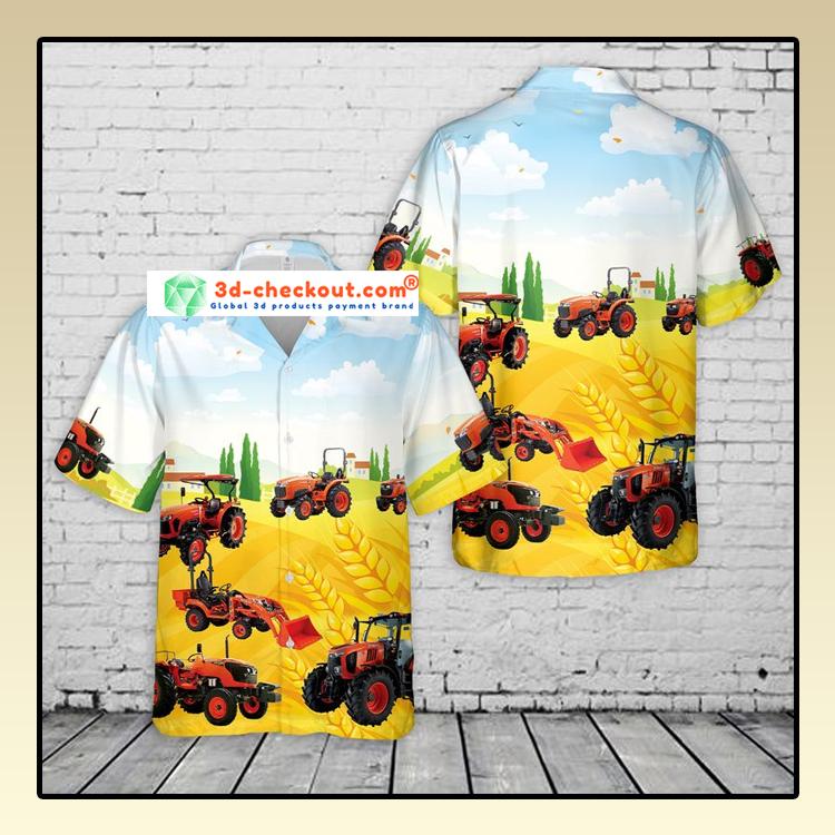 Kubota Tractor Hawaiian Shirt2