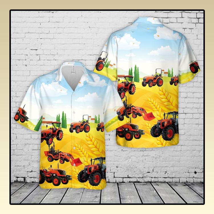 Kubota Tractor Hawaiian Shirt3
