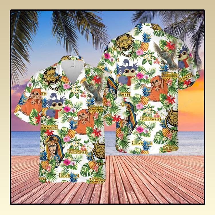 Labyrinth Hawaiian Shirt and short1